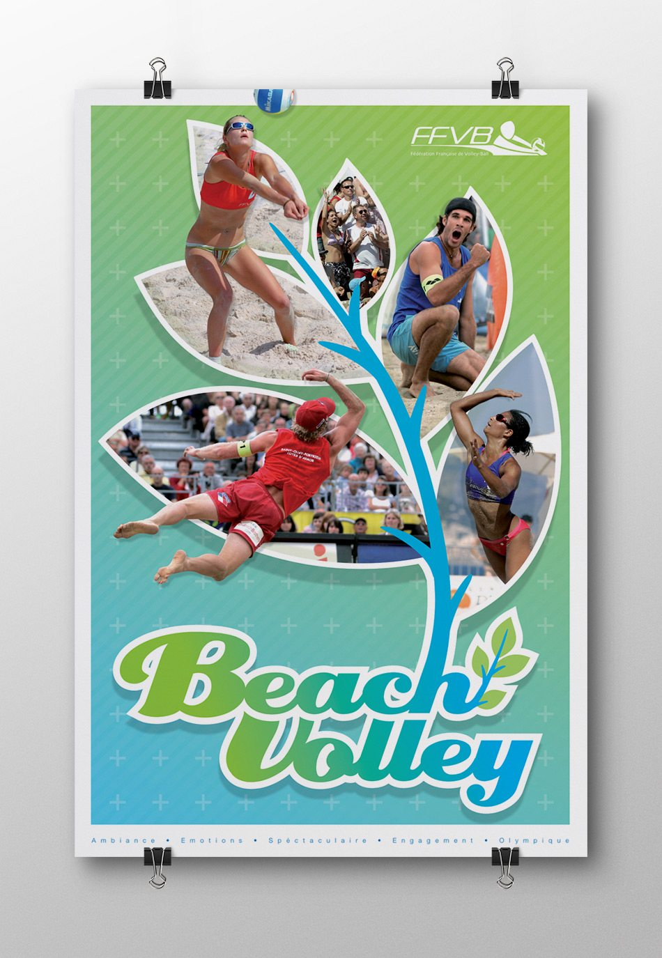 Affiche promotionelle beach volley ffvb 2