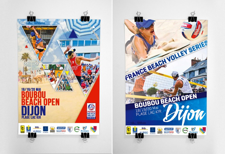 Affiche beach volley système ffvb 2013 graphiste marseille 2