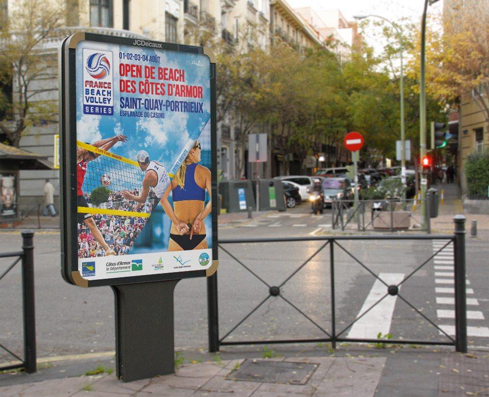 Affiche beach volley système ffvb 2013 graphiste marseille 1