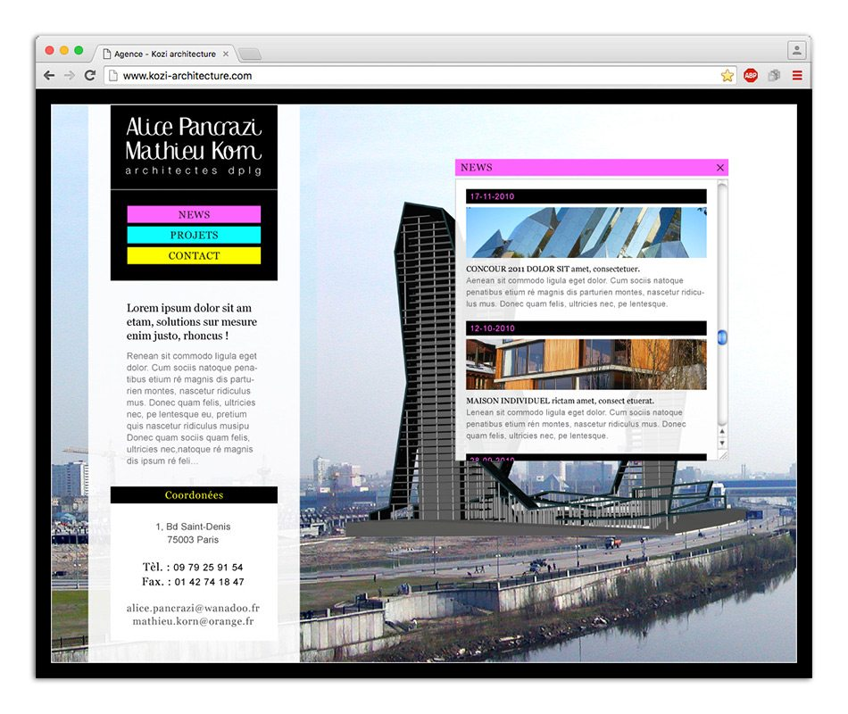 site web architecte graphiste marseille 1